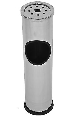 Free Standing Floor Smokers Stainless Steel Cigarette Ash Tray Litter Bin Ashbin