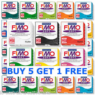 FIMO SOFT 56g POLYMER MODELLING - MOULDING OVEN BAKE CLAY CHOOSE FROM 24 COLOURS