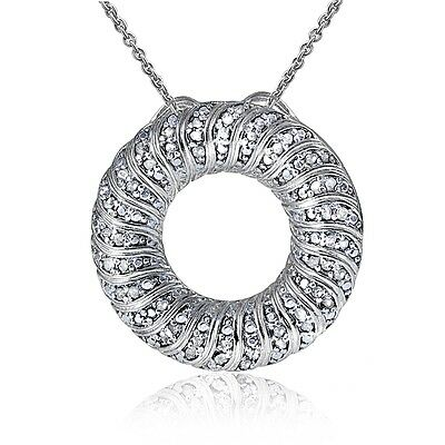 0.50ct TDW Diamond Wave Eternity Necklace