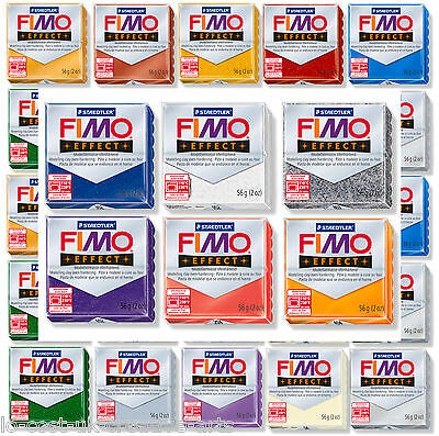 FIMO EFFECT 56g POLYMER MOULDING CLAY BLOCKS / BUY 4 GET 1 FREE / CREATIVE FUN