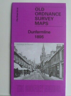 OLD ORDNANCE SURVEY DETAILED MAPS DUNFERMLINE FIFE SCOTLAND 1895  Godfrey Edit