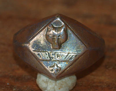Vintage Boy Scouts Of America Sterling Silver Cub Scout Wolf Ring Size 6