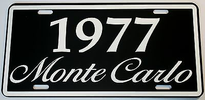 1977 77 Monte Carlo Metal License Plate 350 400 454 Ss Lowrider Chevy