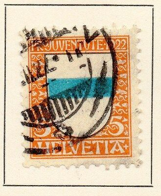 Switzerland 1922 Early Issue Fine Used 5r. 166385
