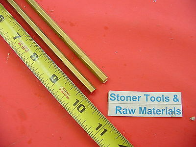 "2 Pieces 1/4"" C360 BRASS HEX BAR 10"" long New Lathe Bar Stock .250"" 1/2 Hard"