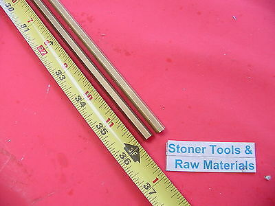 "2 Pieces 1/4"" C360 BRASS HEX BAR 36"" long New Lathe Bar Stock .250"" 1/2 Hard"