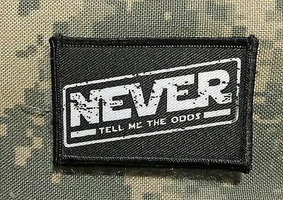 Never Tell Me The Odds Star Wars Chrome License Plate Frame
