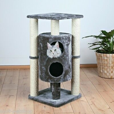 Vigo Cat Tree Scratching Post Platinum Grey 94 Cm