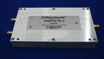 MINI-CIRCUITS POWER SPLITTER ZN2PD2-50-S 500-5000MHz.BARCODE # SF 703800615