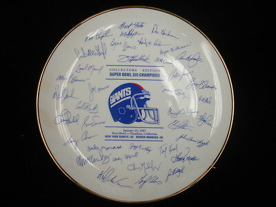 Super Bowl XXI New York Giants Collectors Edition Plate – 9.5″