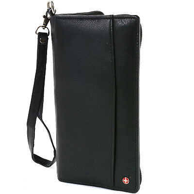 AlpineSwiss RFID Blocking Passport Case Leather Organizer Zippered Travel Wallet