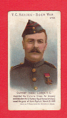 Taddy  &  Co.  -  Rare Military / V.c. Heroes Boer War Card  -  No.  53  -  1902