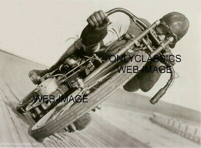 1921 Daredevil Boardtrack Racing 8.5X11 Poster Harley Davidson Motorcycle Racer