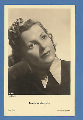 GERMAN  ACTRESS  -  ROSS VERLAG SCARCE POSTCARD  -  MARIA   ANDERGAST  -  1930's