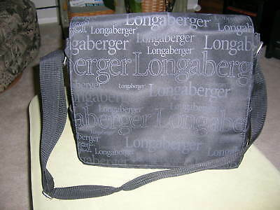Longaberger 2009 Black Messenger Style BEE Bag