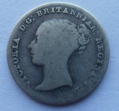 1855 Queen Victoria Fourpence Coin