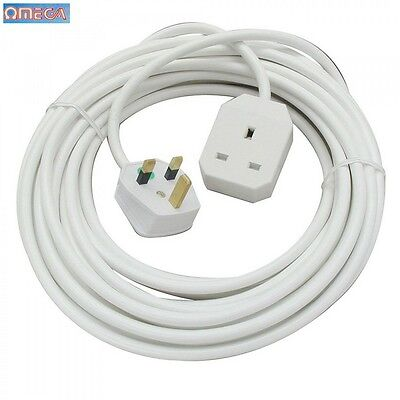 Omega 1 Way Extention Lead 5m Electrical Electric Spare Accessory New