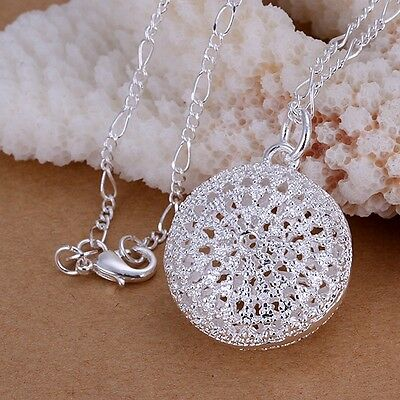 Women Fashion 925 Sterling Silver Chain Girl Beautiful Necklace With Pendant Box