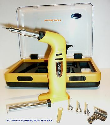 Gas Butane Soldering Iron / Heat Gun Kit - Brand New.