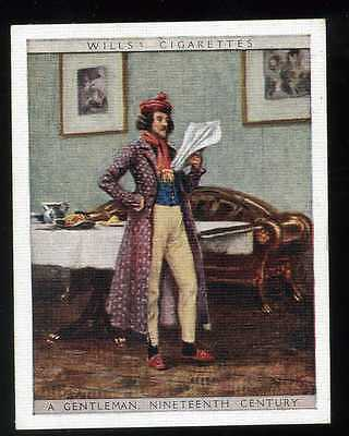 No.46 A COUNTRY GENTLEMAN 1820 English Period Costumes W.D./& H.D Wills 1929