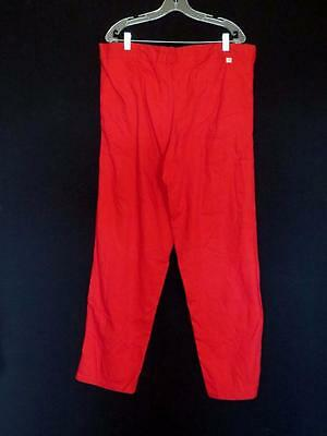 Rare Vintage French 1960's Red  Cotton  Work Pants Button Fly Size 40 Inch Waist