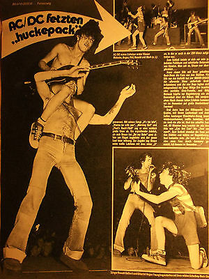 1 german clipping AC/DC SHIRTLESS ANGUS YOUNG RONALD BELFORD ROCK BOY BAND BOYS
