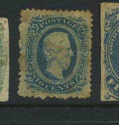 Confederate States #11e Scarce Unofficial Perforated Unused Stamp  (CSA #11-2e)