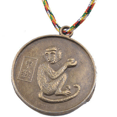 MONKEY CHINESE ZODIAC Charm Pendant Coin Lucky Feng Shui+Five Element Chain