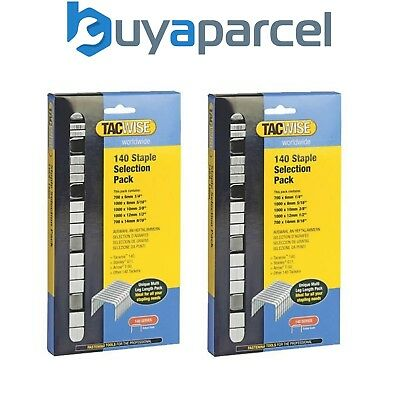 2 x Tacwise 0350 140 Serie STAPLE Auswahl Packung 4400 6mm 8mm 10mm 12mm 14mm
