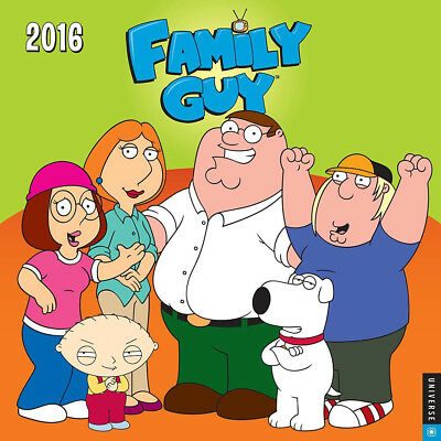 The Family Guy TV Series Main Cast and Quotes 2016 Art Wall Calendar NEW SEALED