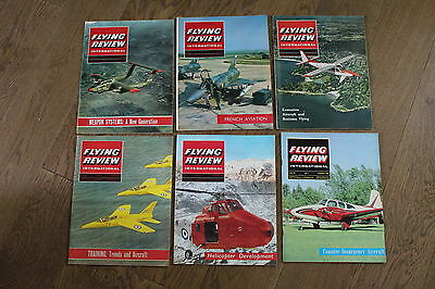 (E2D) 12 Vintage Aviation Magazines Flying Review International 1965 See Photos
