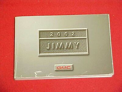 2002 Original Gmc Jimmy Owners Manual Service Guide Book 02 Factory Glovebox Oem