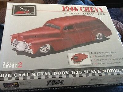 New 1: 25  Scale Die Cast Model Kit 1946 Chevy Delivery Street Rod Coin Bank