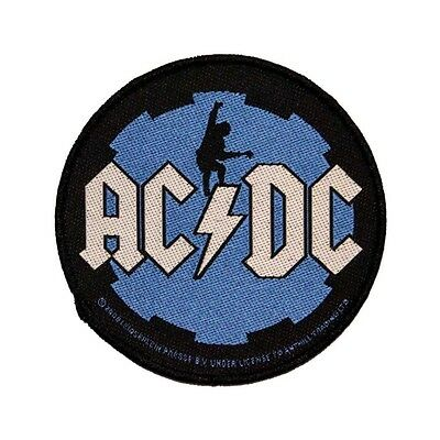 AC/DC ACDC Guitarist Angus Young Cog Icon Logo Rock Music Sew On Applique Patch