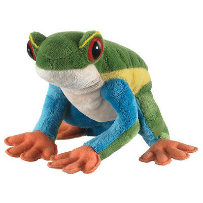 New Red-Eyed Tree Frog Small Plush Stuffed Green Red Animal Toy Wildlife Artists
