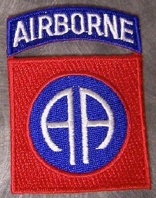 Embroidered Military Patch U S Army 82nd Airborne Division NEW