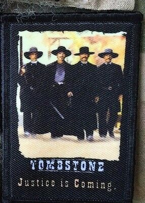 Tombstone Movie Poster Morale Patch Military Tactical Army Flag USA Hook Badge
