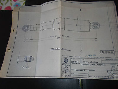 1970   benelli  MINI BIKE   (Shock absorber ) blueprint