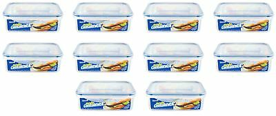 5 X 1.5L Clip & Lock Airtight Food Container Storage Box Freeze Microwave