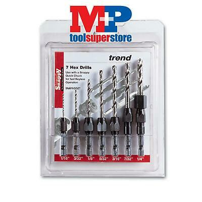 Trend SNAP/D/SET/2 SNAPPY 7 PC METRIC DRILL SET 1-7MM