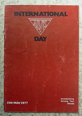 INTL ALVIS DAY Knebworth House Programme 15 May 1977 Inc Driving Test Details