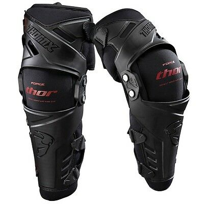 Thor Force Motocross Knee Guards Body Protection Black Armour Small Medium