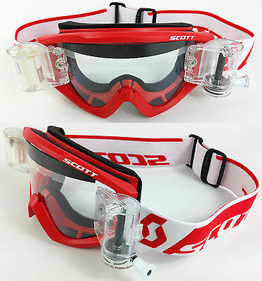 2016 SCOTT RECOIL XI MOTOCROSS MX ENDURO GOGGLES RED with GSVS ROLL-OFF SYSTEM