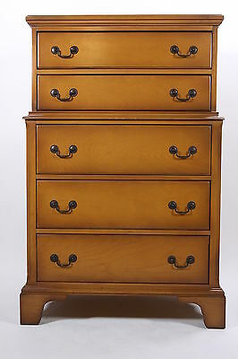 Keeler No. 1351 Maple Chest Of Drawers 5-Drawer Dresser With Brass Pulls