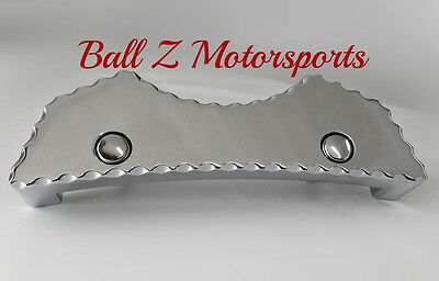 Hayabusa Smooth Ball Cut Chrome Gas Front Center Tank Pad Cover!! 99-07-08-16-17