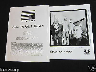 System Of A Down 'S/t' 1998 Press Kit--Photo