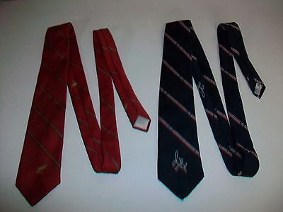 Lot 2 Vintage Loyal Order of the Moose Mooseheart Neck Tie Ties