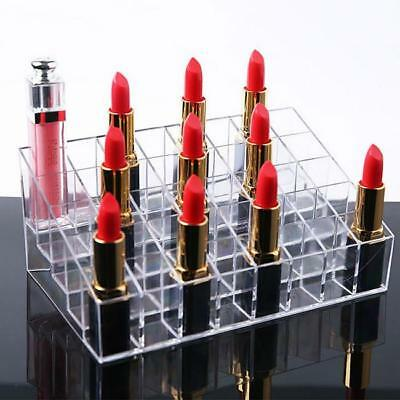 Clear Acrylic 40 Lipstick Holder Display Box Cosmetic Makeup Case Organizer - LD