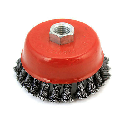 "10 New 4"" Twist Style Wire Cup Brush Twisted Wheels Grinders 8,500 RPM"