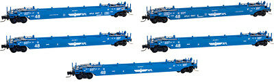 Micro-Trains MTL Z-Scale 70ft Gunderson Well Cars APL (Blue Eagle) - Runner 5-Pk
